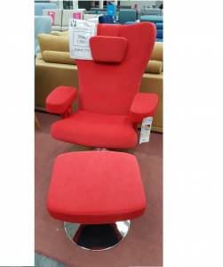 Fotel Space 05 + podnóżek Vericon